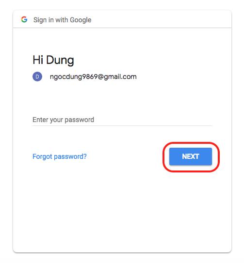 Đăng nhập bằng tài khoản Google