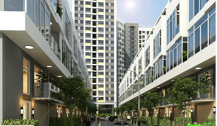 Liền kề chung cư Rice City Sông Hồng