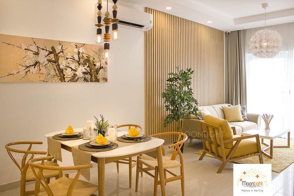 Phòng khách căn hộ Moonlight Residences