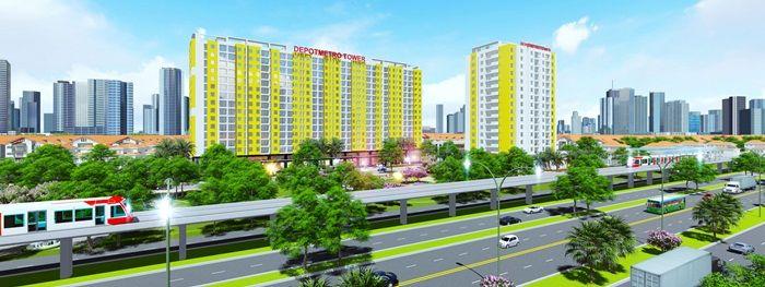 Tổng quan phối cảnh chung dự án chung cưDepot Metro Tham Lương