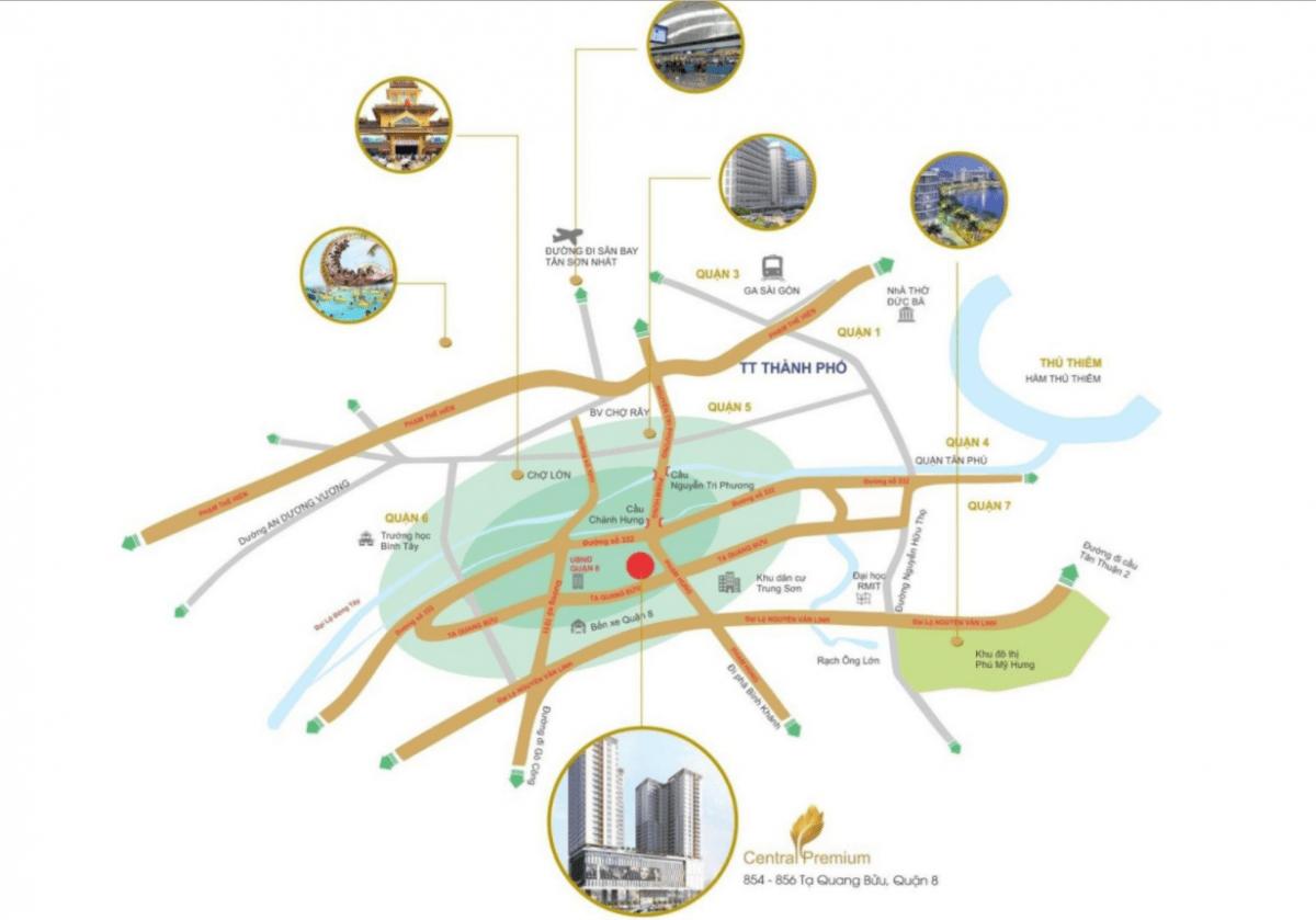 Liên kết vùng tại dự ánChung cư Central Premium