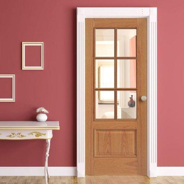 Mẫu cửa phòng ngủ có ô thoáng đẹp và hiện đại