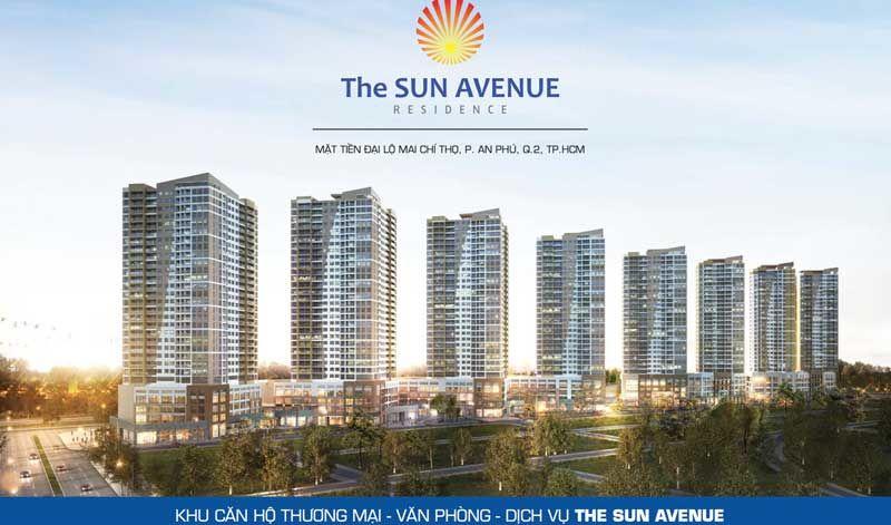 Phối cảnh tổng thể dự án Chung cưSun Avenue