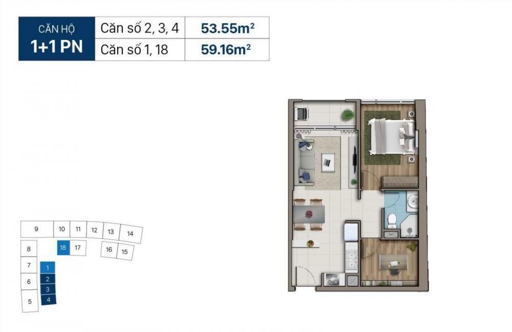 Thiết kế mẫu căn hộ điển hình dự ánChung cư Saigon Royal Residence