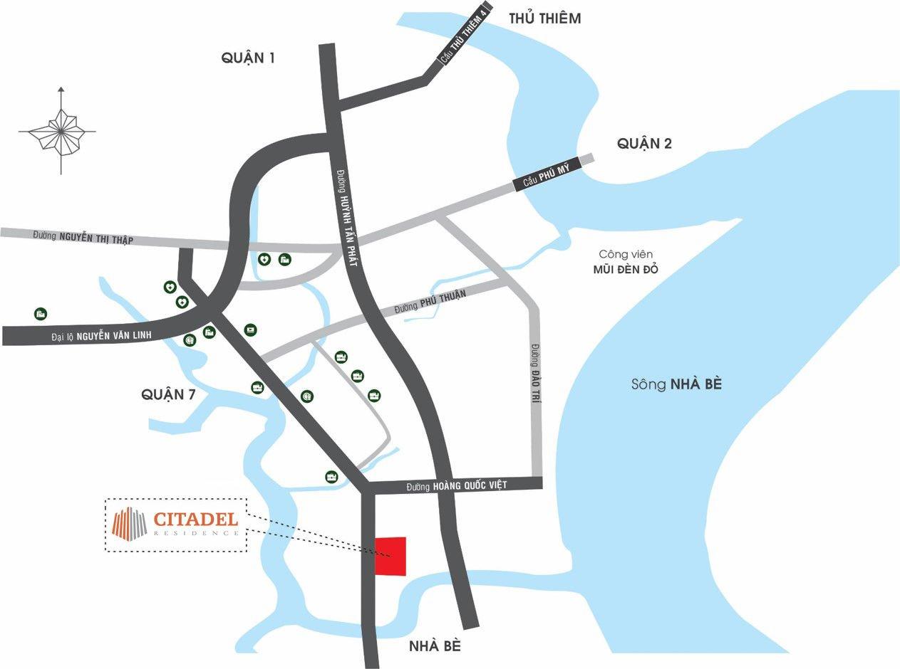 Vị trí dự án Citadel Residence