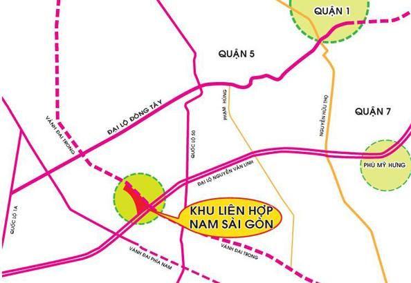 Vị trí dự án Khu đô thị 13B - Nam Sài Gòn