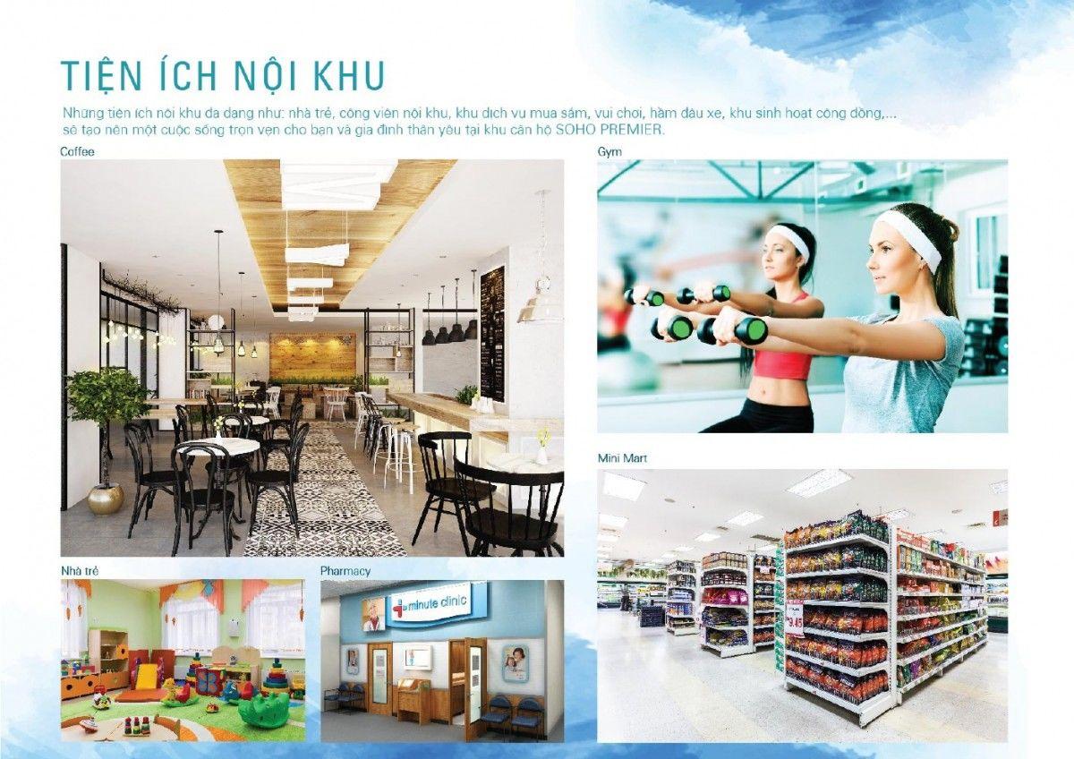 Hệ thống tiện ích nội khu dự án Chung cư Soho Premier