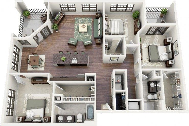 Mẫu chung cư 3 phòng ngủ mang nét đẹp thẩm mỹ cao và thanh lịch