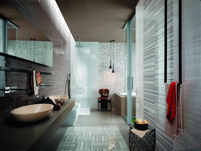 Mẫu phòng tắm kính đẹp tạo ra một ánh sáng hiện đại