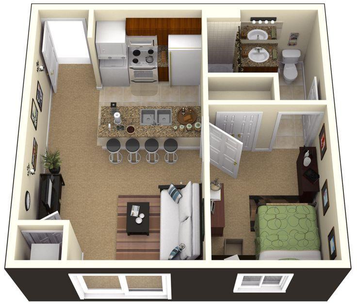 Một căn hộ nhỏ được thiết kế hiện đại với bố cục thoải mái
