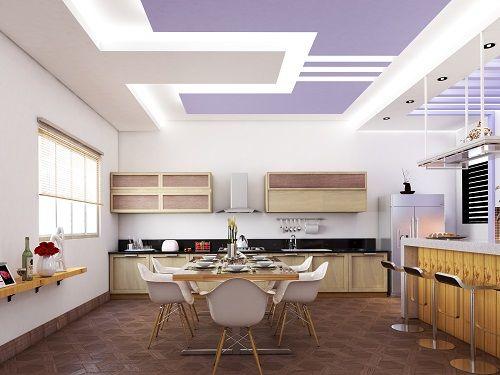 Xu hướng trang trí trần thạch cao bếp đẹp và hiện đại