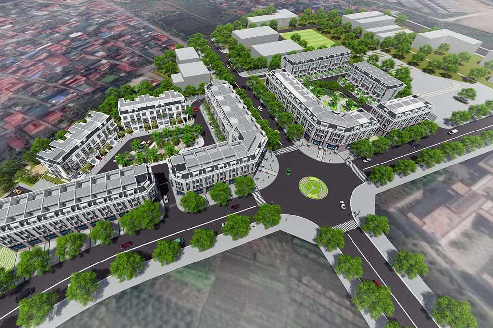 Khu Shophouse dự án Hà Nội Garden City