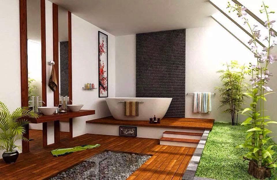 Mang yếu tố thiên nhiên vào căn phòng tắm phong cách spa là sự lựa chọn khôn khéo