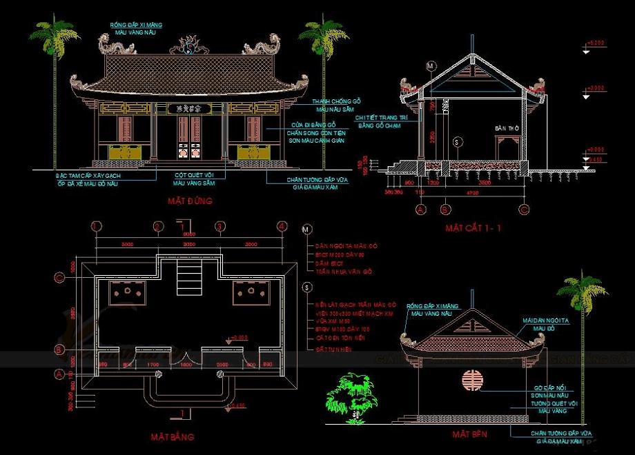 Nhìn vào mẫu file cad nhà thờ họ đẹp để biết nguyên tắc thiết kế nhà thờ họ