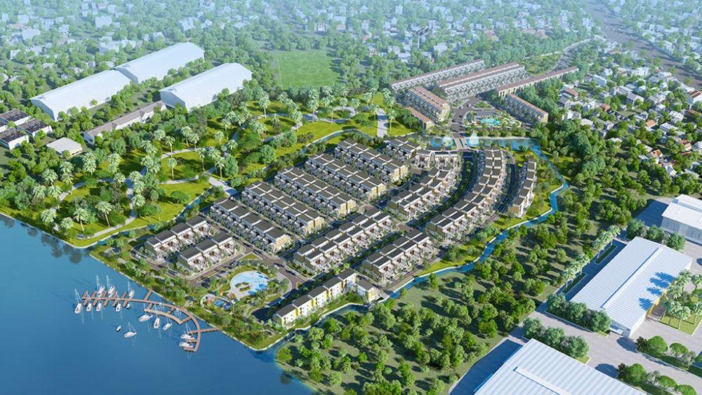 Phối cảnh tổng thể dự án Khu đô thị Lotus Riverside City Long An