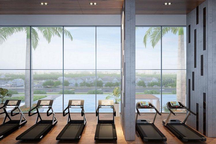 Phòng tập gym hiện đại của dự án La Premier