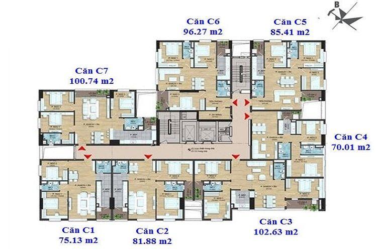 Mặt bằng tổng quan căn hộ dự án chung cư Dream Center Home