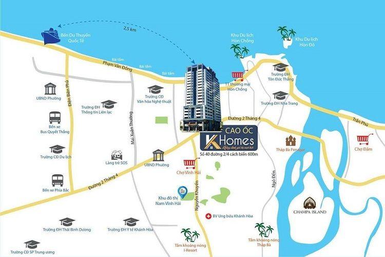 Vị trí tiện ích ngoại khu dự án căn hộ K-Homes Nha Trang