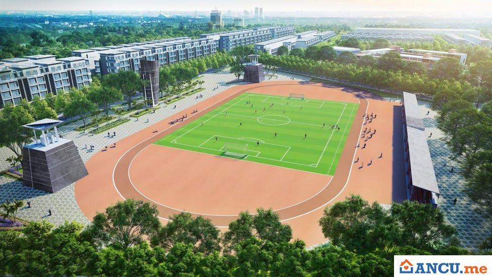 Sân bóng nằm trong dự án khu đô thị Lotus Garden Từ Sơn