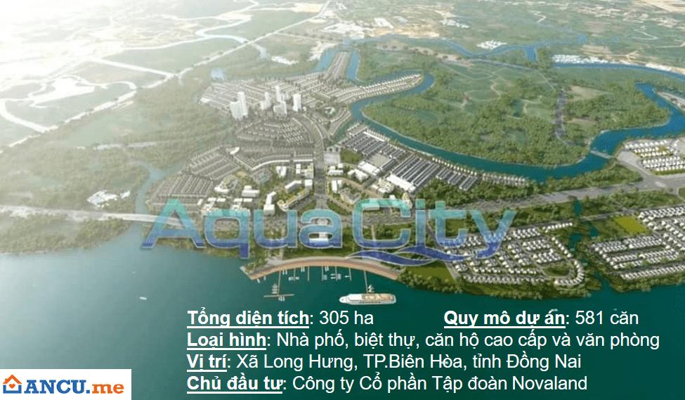 Phối cảnh tổng quan dự án khu đô thị Aqua City