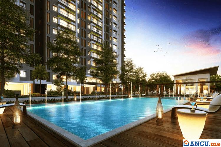 Bể bơi dự án Flora Anh Đào
