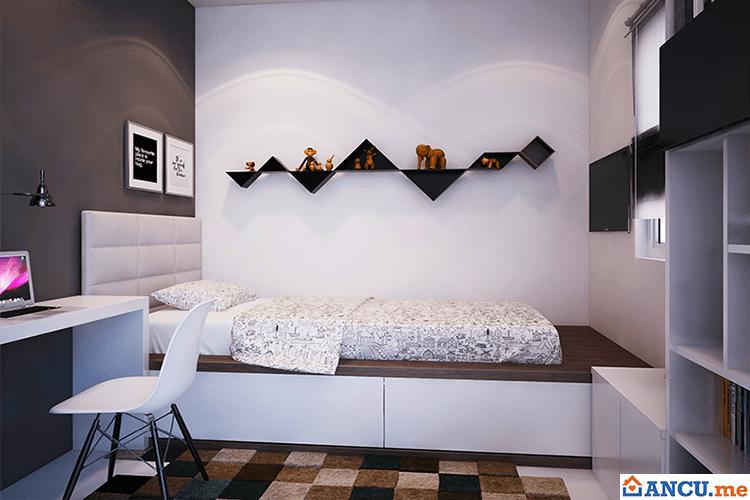 Phòng ngủ nhà mẫu dự án Soho Riverview