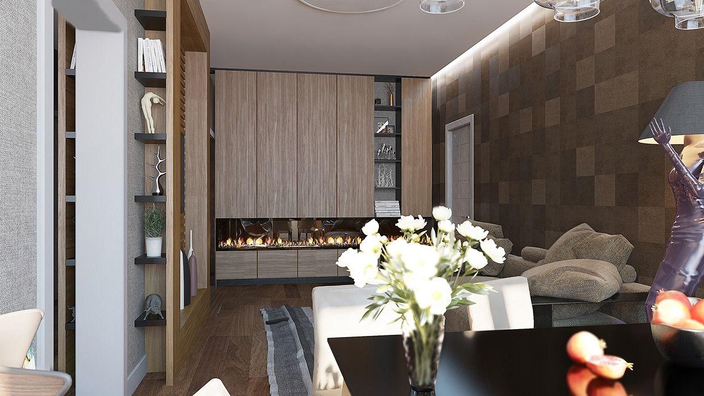 Một bên tường đặt tủ kệ lưu trữ đồ dùng vừa gọn gàng lại tốn không quá nhiều diện tích