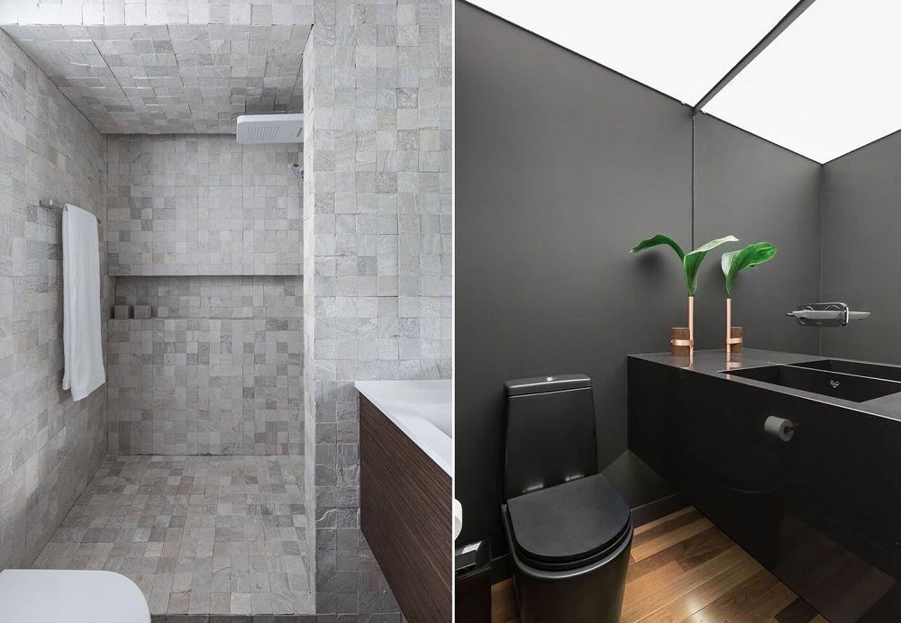 Phòng tắm và nhà vệ sinh trang nhã, nhỏ gọn